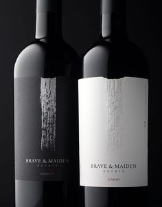CF Napa Brand Design - Brave & Maiden - CF Napa packaging and label design Wine Bottle Design, Wine Label Design, Wine Bottle Labels, Beer Labels, Bottle Opener, Cabernet Sauvignon, Sauvignon Blanc, Wine Logo, Chenin Blanc