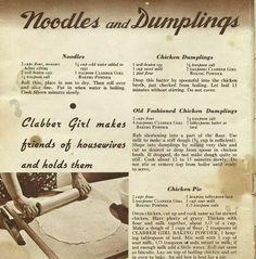 Noodles and Dumplings