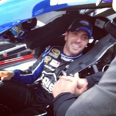 Jimmie Johnson won his 8th race at Martinsville today, and he is back on top In the points.  Woohoo!!!