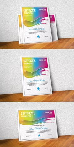 Certificate by curvedesign on Envato Elements Stationery Templates, Certificate Templates, Company Names, Ideas, Business Names, Thoughts