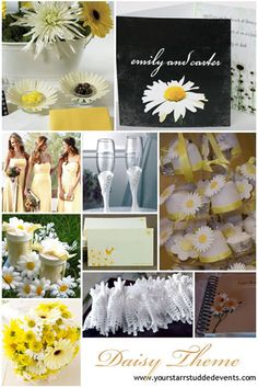 Daisy Wedding Inspiration.. I know who this would be PERFECT for!
