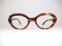 Vintage '60's Red Tortoise Cat Eye Frame from Austria. These would make stunning sunglasses!