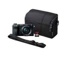 Alpha NEX-6 Camera Bundle! This camera is awesome and the bundle includes: 16.1MP camera with 16-50mm lens, NEX camera case, and 32GB SDHC UHS-1 memory card