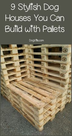 9 Stylish Pallet Dog House Designs We Love is part of Pallet dog house - Fido need new digs Save money and build one yourself! Check out these nine stylish pallet dog house designs that we love! Big Dog House, Build A Dog House, Dog House Plans, Pallet Dog House, Pallet Dog Beds, Pallet Building, House Building, Building Ideas, Animal Projects