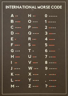 #Prepper #Survival #LostSkills - International Morse Code