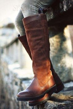 Concise Fashionabel Flat Knee High Boots