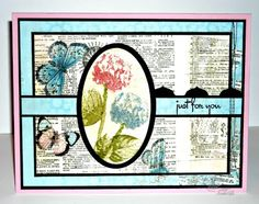 Stamps - Kitchen Sink Stamps Ready 4 Any Holiday, 3 Step Hydrangea, Multi Step Lilac