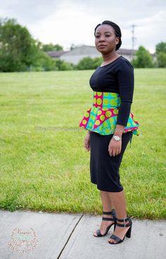 African Print Peplum Belt Peplum Belt Fabric Belt by NayaasDesigns