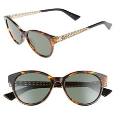 Women's Dior Diorama Mini 52Mm Mirrored Lens Special Fit Sunglasses ($415) ❤ liked on Polyvore featuring accessories, eyewear, sunglasses, metallic sunglasses, logo sunglasses, mirror lens sunglasses, christian dior glasses and mini glasses