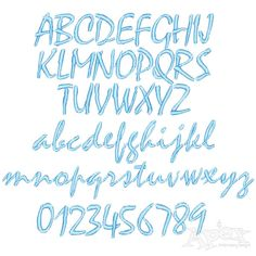 """Ocean Wave Embroidery Font Size: 1"""" , 2"""" and 3"""" Sets"""
