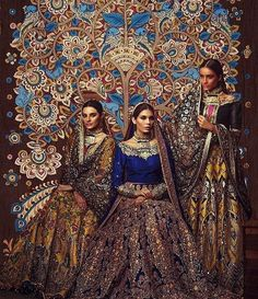 Ali xeeshan 2017 Pakistani bridal gowns n background Indian Bridal Fashion, Indian Wedding Outfits, Bridal Outfits, Indian Outfits, Wedding Dresses, Engagement Outfits, Indian Weddings, Real Weddings, Pakistani Couture