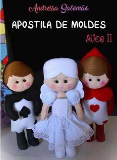Bonecos da Alice no País das Maravilhas com moldes
