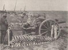 Australian gun crew in action in the Ypres sector, 28 September 1917.