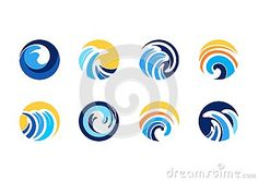 Circle wave sun logo, abstract swirl wind sphere elements concept symbol icon vector design - http://www.dreamstime.com/stock-photography-image59480697#res7049373