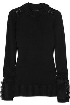 Burberry Prorsum  Button-detailed merino wool-blend sweater