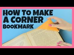 "Hey everyone! Origami corner bookmarks are fun and easy. Pin this for easy return to here. Supply list: 6"" x 6"" patterned paper Scor-Pal or bonefolder Here is a video that shows you how to make corner bookmarks."