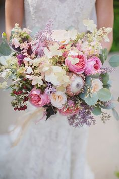 Fantastical wedding bouquet / Photo by Maria Longhi Photography Deco Floral, Arte Floral, Bride Bouquets, Floral Bouquets, Bouquet Champetre, Bridal Flowers, Floral Wedding, Wedding Pastel, Spring Wedding