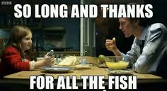 """""""Swear to me.  Swear on something that matters.""""  """"Fish fingers and custard."""""""