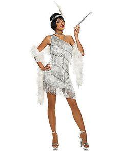 Dazzling Flapper Adult Womens Costume - Spirithalloween.com