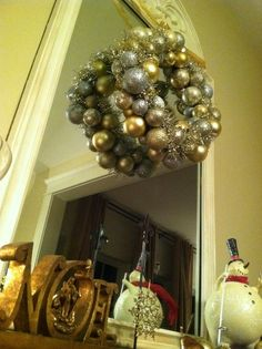 I'm sure many of you have seen these wreaths on Pinterest. One video tutorial said it cost $35-$40 to make this project. It makes sense...