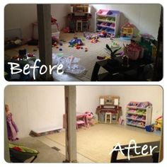 San Antonio Organization Play Room Before After