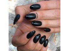 Black Matte Nails by Anthony Matte Black Nails, French Manicures, Top Nail, Nail Tech, Nail Art, Beauty, Nail Arts, French Nails, Beauty Illustration