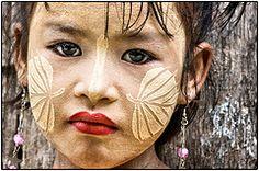 Mandalay. Tanaka (**luisa**) Tags: portrait girl child burma myanmar mandalay tanaka thanaka thanakha luisapuccini
