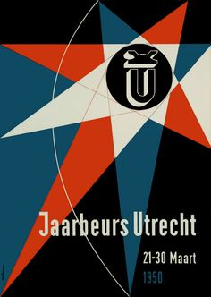 1950 Otto Treumann (1919–2001) is a major pioneer in the modernization of graphic design in the Netherlands. Inspired by Swiss typography & Bauhaus aesthetics. His oeuvre combines easy-to-read visual elements with iconoclastic color treatment, enhanced by his wide knowledge of printing techniques. Treumann enjoyed a special relationship with industrial clients, devising house styles and logos.