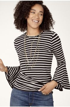 Avery Bell Sleeve Knit Top by Stella & Dot