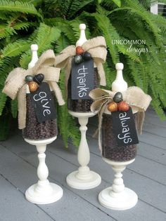 We have created these festive Fall Apothecary Jars as a part of our ongoing seasonal apothecary jar projects! #fall #apothecaryjars via www.uncommondesignsonline.com