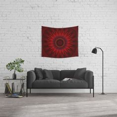 25% Off Everything Today With Promo Code GIVEART25 Mandala red power Wall Tapestry