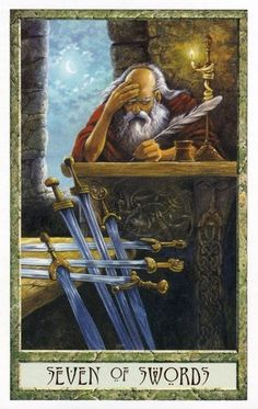 The Druid Craft Tarot ► Seven of Swords