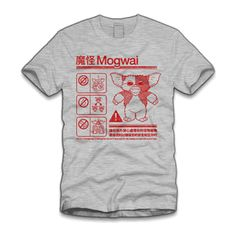 Mogwai Warning T-Shirt. Cool TeesCool T ShirtsTee ShirtsMovie ShirtsTee  Shirt DesignsLaosMustacheGraphic TeesIndiana Jones. Lao Che Air Freight ... bc4ea33e972
