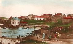 old photos of Portrush in County Antrim in Northern Ireland in the United Kingdom of Great Britain.
