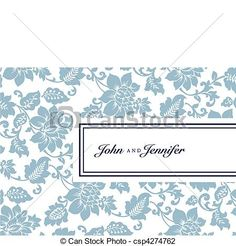 Vector Floral Pattern and Tag Frame - csp4274762