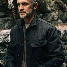 The Long Haul Jacket in Black Selvage from Taylor Stitch. Men's shirting, outerwear, denim, and basics responsibly. Taylor Stitch, Deer Skin, Long Haul, Daily Wear, Organic Cotton, Fashion Outfits, Hoodies, Denim, My Style