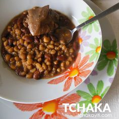 Tchaka, is a traditional #Haitian casserole made with salted smoked pig feet, red beans and dried corn. Find the #recipe to make it on our #foodblog