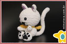GATINHO Mimoteca - emoção em arte Crochet Amigurumi Cat
