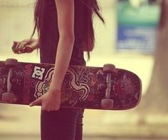 Learn to skateboard. I tried it for the first time today ^_^ I'm better then when I first started but I have a loooong way to go. Wish me luck!