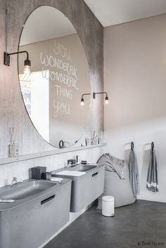 Bathroom Remodel On A Budget, Bathroom Remodel Small, Bathroom Remodel DIY, Bathroom Remodel Ideas Vanity, Bathroom Remodel Ideas Master. Retro Bathrooms, Small Bathroom, Vanity Bathroom, Cement Bathroom, 1950s Bathroom, Dyi Bathroom, Master Bathroom, Diy Bathroom Remodel, Bathroom Interior
