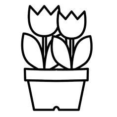 Leuk voor kids kleurplaat ~ Tulpen