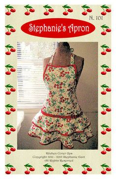 Retro style womens full apron pattern. $10.00, via Etsy.