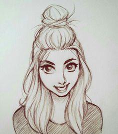 Drawing sketches, sketch art, hair sketch, doodle sketch, cartoon s Girl Drawing Sketches, Art Drawings Sketches Simple, Pencil Art Drawings, Drawing Faces, Doodle Sketch, Sketch Art, Sketches Of Girls, Girl Hair Drawing, Drawing Art