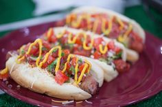 Top your bacon-wrapped hot dog with beans, grilled peppers & 2 salsas Hot Dog Recipes, Bacon Recipes, New Recipes, Snack Recipes, Favorite Recipes, Bacon Wrapped Hotdogs, Wrapped Hot Dogs, Sonoran Hot Dog Recipe, National Bacon Day