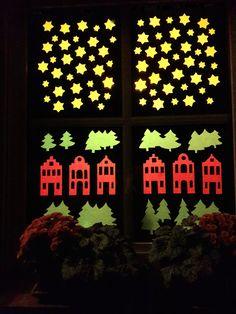Fensterbild für Sankt Martin