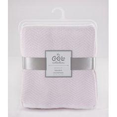 Cocalo - Herringbone Blanket - Petal Pink