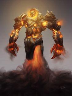 Fire Guardian Golem on Behance