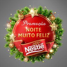 Christmas_Nestle by Marcelo Jr., via Behance Christmas Art, Christmas Themes, Christmas Bulbs, Xmas, Holiday Decor, Branding Process, 3d Typography, Lettering, Free Psd Flyer