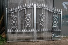 1 of 4: GALVANIZED DOUBLE WROUGHT IRON DRIVEWAY GATES 10 ft wide