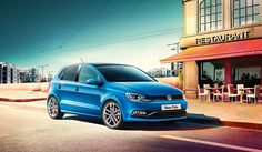 Blue Volkswagen Polo GP exterior view right side large